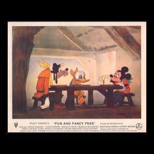 disney fun and fancy free lobby card 1