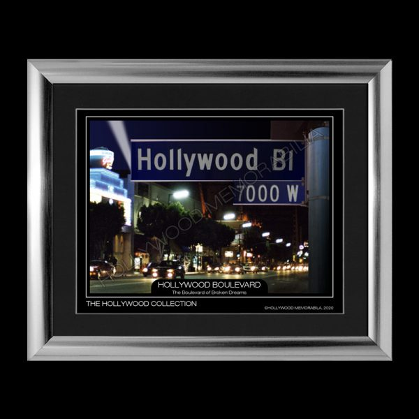 hollywood boulevard night print