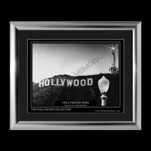 hollywood sign print
