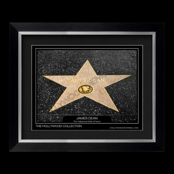 james dean walk of fame star photograph